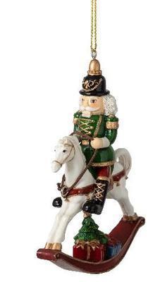 Závesný luskáčik na koni 8,2 cm Winter Coll. Acce.