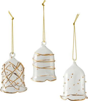 Závesné sklenené zvončeky, 3 ks Winter Collage Ac.