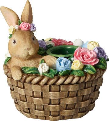 Svietnik, zajac v košíku Spring Fantasy Access. - 1