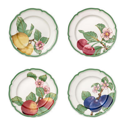 Súprava plytkých tanierov, 4 ks Fr. G. Mod. Fruits
