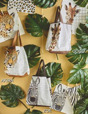 Textilná taška, žirafa 42 x 54 cm Sander