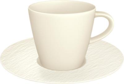 Kávová šálka 0,22 l s podšálkou Manufa. Rock blanc - 1