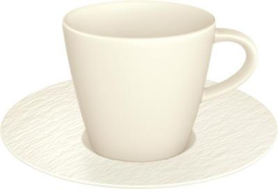 Espresso šálka 0,10 l s podšálkou Manu. Rock blanc - 1