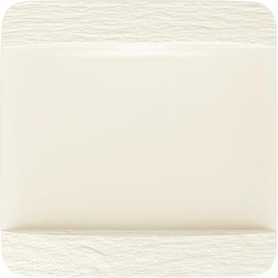 Hranatý plytký tanier 28 cm Manufacture Rock blanc