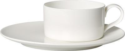 Čajová šálka 0,23 l s podšálkou MetroChic blanc - 1