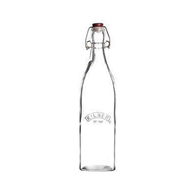 Hranatá fľaša s klipom 0,55 l Kilner