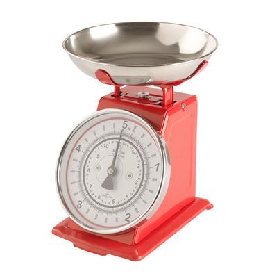 Červená kuchynská váha Winter Bakery