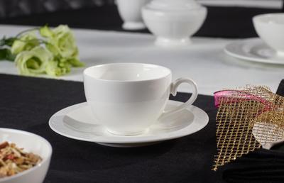 Kávová šálka 0,20 l s podšálkou White Pearl - 2