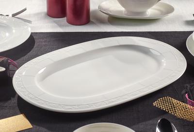 Oválny tanier 41 cm White Pearl - 2
