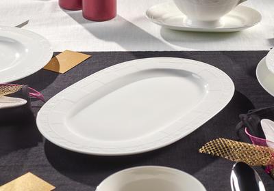 Oválny tanier 35 cm White Pearl - 2
