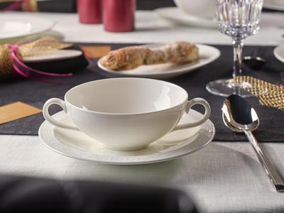 Polievková šálka 0,40 l s tanierikom White Pearl - 2