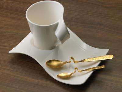 Espresso lyžička, pozlátená 12 cm NewWave Caffe - 2