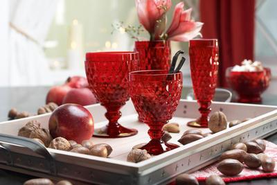 Červený pohár na biele víno Boston coloured - 2