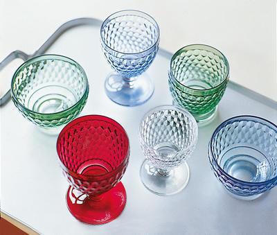 Červený pohár na vodu Boston coloured - 2