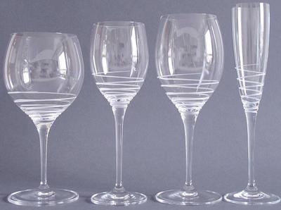 Špirálovitý pohár na biele víno 0,37 l Maxima Dec. - 2