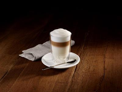 Latte pohár s podšálkou, lyžička 0,39 l Cof. Pas. - 2