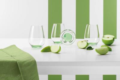 Pohár na vodu 0,42 l, 4 ks CL Green Apple - 2
