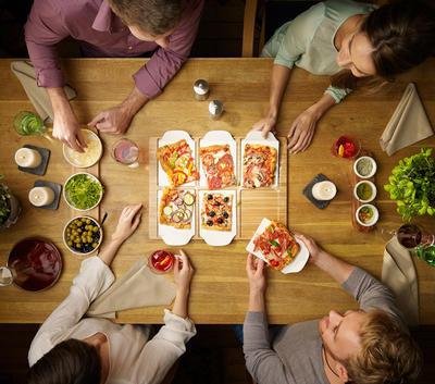Hranatý servírovací podnos s tanierikmi Pizza Pas. - 2