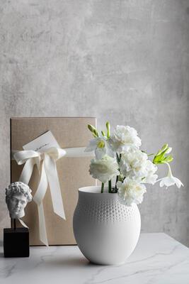 Veľká váza, Perle, 17,5 cm Manufact. Collier blanc - 2