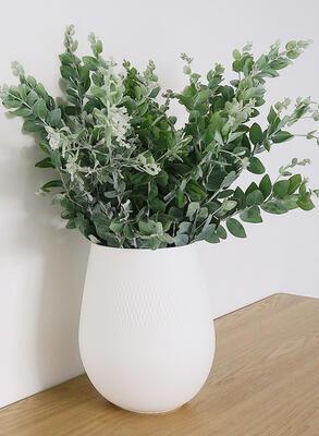 Veľká váza, Carre, 17,5 cm Manufact. Collier blanc - 2