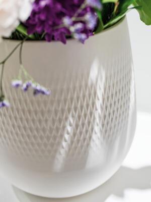 Malá váza, Carre, 14 cm Manufacture Collier blanc - 2