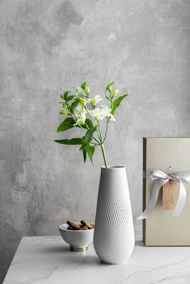 Vysoká váza, Perle, 26 cm Manufact. Collier blanc - 2