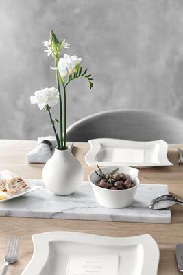Malá váza, Perle, 12 cm Manufacture Collier blanc - 2