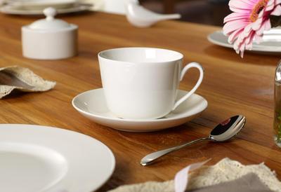 Kávová šálka 0,20 l s podšálkou Twist White - 2