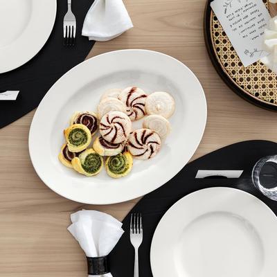 Oválny tanier 34 cm Twist White - 2