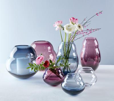 Váza/lampa na sviečku 17 cm Jolie Bleue - 2