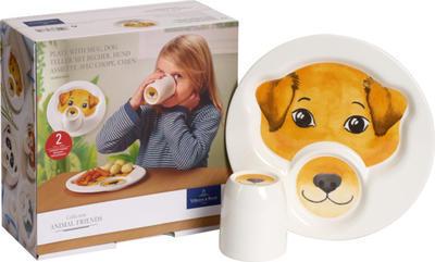 Detský tanier s hrnčekom, pes Animal Friends - 2