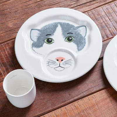 Detský tanier s hrnčekom, mačka Animal Friends - 2