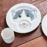 Detský tanier s hrnčekom, mačka Animal Friends - 2/2