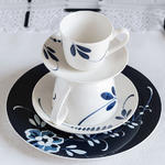 Dezertný tanier, modrý 22 cm Old Luxemb. Brindille - 2/2