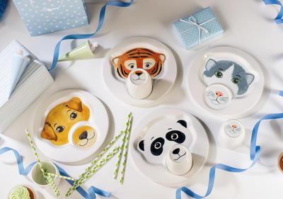 Detský tanier s hrnčekom, panda Animal Friends - 2