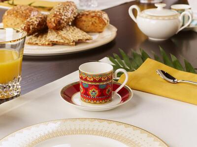 Espresso šálka 0,10 l s podšálkou Samarkand Rubin - 2
