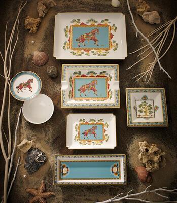 Popolník 17 x 21 cm Samarkand Aquamarin - 2