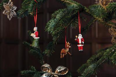 Závesný Santa a jeho pani, sob, 3 ks No. Ornaments - 2