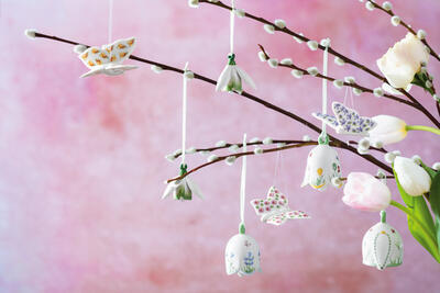 Závesný zvonček, narcis 6 cm New Flower Bells - 2