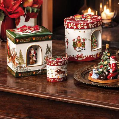 Hracia skrinka, hranatý darček Christmas Toys - 2