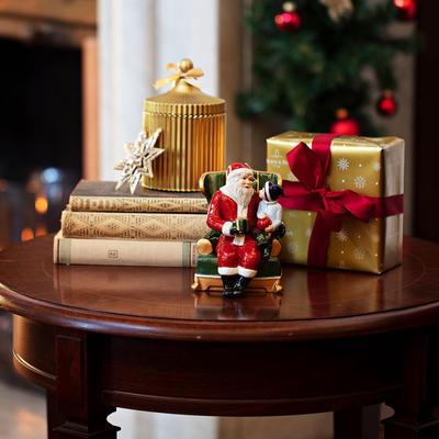 Hracia skrinka, Santa v kresle Christmas Toys - 2