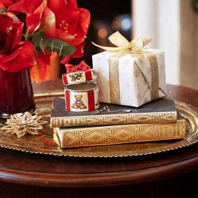 Malá dóza, okrúhly darček 7 cm Christmas Toys - 2