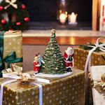 Svietnik, Santa pri stromčeku 23 cm Christmas Toys - 2/2