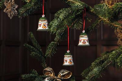 Závesný zvonček, medvedíci 7 cm My Christmas Tree - 2