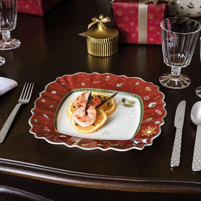 Červený hranatý plytký tanier 28,5 cm Toy's Delig. - 2