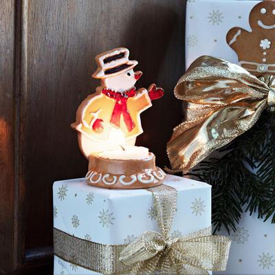 Svietnik, snehuliak 7 x 11 cm Winter Bakery Decor. - 2