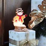 Svietnik, snehuliak 7 x 11 cm Winter Bakery Decor. - 2/2