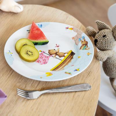 Detský plytký tanier 22 cm Happy as a Bear - 2