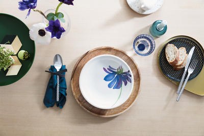 Plochá miska 23,5 cm Artesano Flower Art - 2