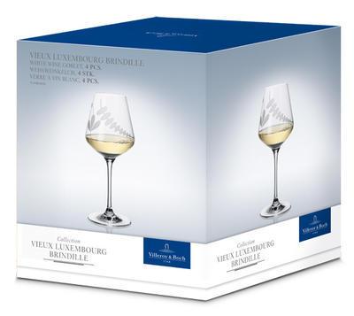 Pohár na biele víno 0,38 l, 4 ks Old Lu. Brindille - 2